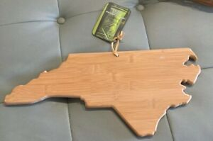 New W/Tags Totally Bamboo cutting/serving board, Shape of North Carolina