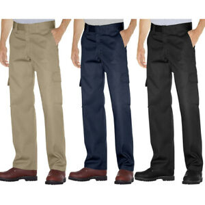 Dickies WP592 Men#x27;s Relaxed Fit Cargo Pants Straight Leg Chinos Workwear Uniform