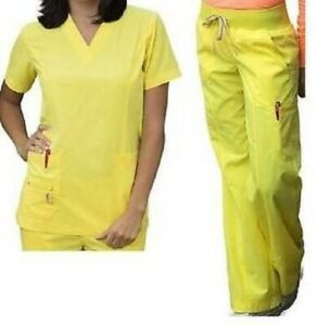 Peaches Bold amp; Bright 4412 Glow Women#x27;s Scrub Sets Medical Scrubs XS $29.99