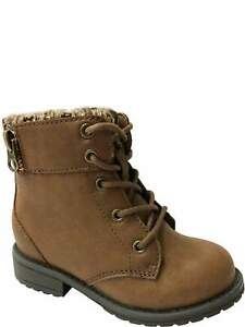 Wonder Nation Youth Girls Brown Sweater Lined Moto Casual Boots Shoes: 12 5 $21.99