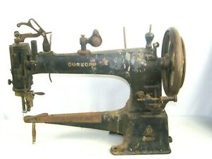 Antique DURKOPP Leather Treadle Industrial Sewing Machine Cast Iron $412.50