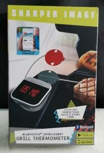 SHARPER IMAGE BLUETOOTH INTELLIGENT GRILL THERMOMETER * NEW IN BOX