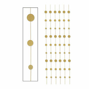 Glitter Gold Dot Hanging Decorations Party Decor 6 Pieces