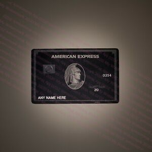 American Centurion Black Card METAL MATTE Finish Express Amex -YOUR CHIP