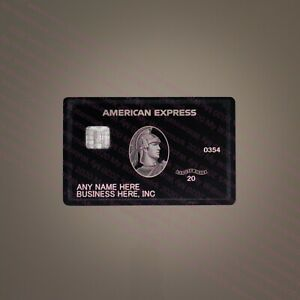 BUSINESS 2020 American Centurion Black Card METAL MATTE Finish Express Amex