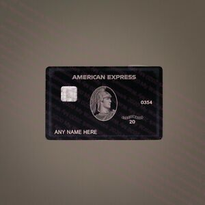 2020 Style American Centurion Black Card METAL MATTE Finish Express Amex