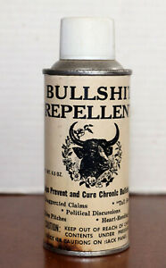 Vintage Bullshit Repellent Novelty Gag Gift Spray Can