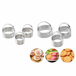 3pcs/set Fancy Scallop  Cookie Biscuit Pastry Cutter Set Of Stainless Steel KW