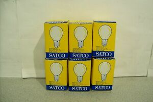 Lot of 6 Brand New Satco S3622 120V 10W Frosted Light Bulb
