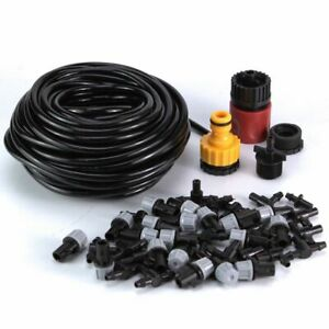 50FT Water Mister Nozzles Set Outdoor Misting Cooling System Garden Irrigation