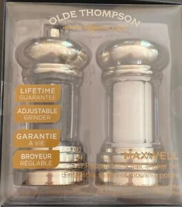 Olde Thompson Clear Acrylic Maxwell Pepper Mill And Salt Shaker With Brushed