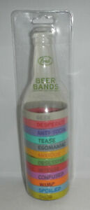 Fred And Friends Beer Bands Glass Bottle Can Bracelets Party Drink Labels