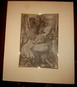 Matted  Picasso Lithograph Nude Signed in Work $45.00