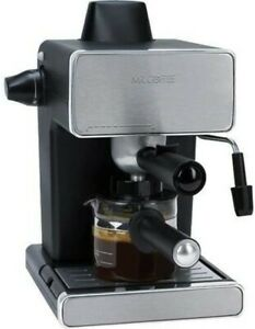Mr. Coffee 4 Cup Steam Espresso and Cappuccino Maker Stainless Steel Black