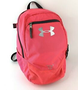 Under Armour Hot Pink 15 Backpack Multi Compartment Side Pocket Zipper Padded $15.10