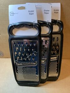 Lot Of 3 Stainless Steel Flat Graters
