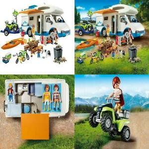 Playmobil Camping Adventure RV Kids Summer Kayak Trailer 4 Wheeler Camping Tent