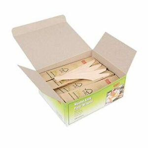 Gmark Disposable Wooden Knife Paper Wrapped | Pack of 100-6.5