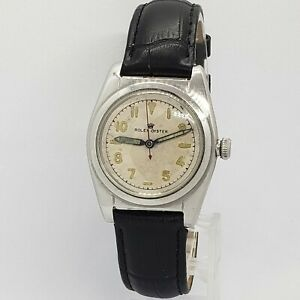 Vintage 1945 ROLEX Mens Oyster Royal 2940 Bubbleback Automatic Running 32mm $2199.00