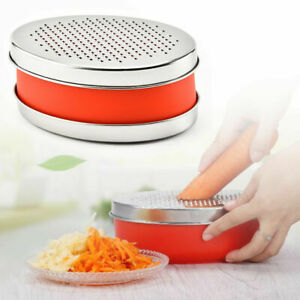 Cheese Slicer with Container Box Stainless Steel Blade Grater Food Vegetable