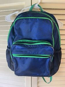 Under Armour Boys Backpack Blue And Green $8.00