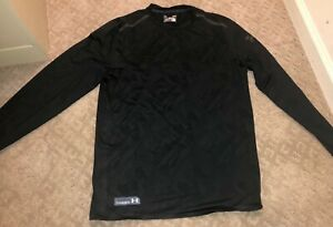 Under Armour Combine Training Cold Gear Black Camo Long sleeve size Large $18.60