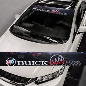 53 x 8 BUICK Front Window Windshield Black Vinyl Banner Decal Sticker For Buick $15.99