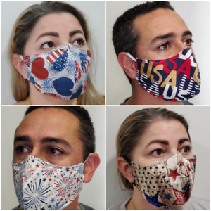 *High Quality* Reusable Face Mask Unisex Washable Kids Adults Best USA Patriotic