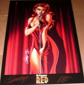 J Scott Campbell SIGNED Ravishing Red Art Print Lithograph Nei Ruffino SDCC 2013