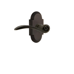 Cottage Plate 2-3/4 In. Backset Oil-Rubbed Bronze Privacy Bed/Bath Swan Door Lev