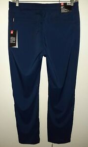 Mens NEW 38 32 Under•Armour•Golf NAVY heatgear STAIGHT Stretch Flat Front Pants $40.00