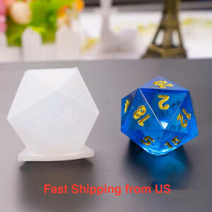 New Shiny Dice Silicone Mold 9 Styles - Resin, UV Resin, Craft- Shipping from US
