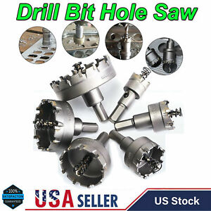 12 Pcs Carbide Hole Saw Drill Bit Set Tooth Kit Cutter Tool for Metal Wood Alloy