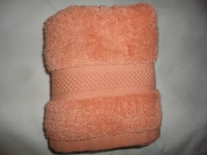 NINA CAMPBELL CANTALOUPE ORANGE THICK COTTON TERRY 1PC HAND TOWEL 14 X 25 $13.60