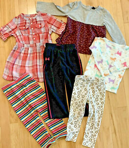 LOT OF 6 BABY GIRL CLOTHES SIZE 2T Baby Gap Circo OshKosh Carter's Under Armour $15.99