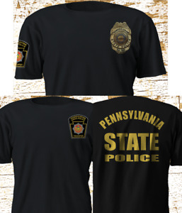 New Pennsylvania State Police Department SWAT Military Black T Shirt S 4XL $23.67