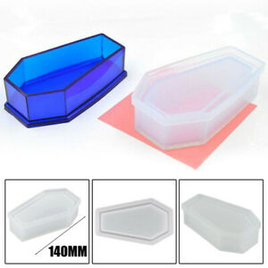 Silicone Vampire Coffin Mold Jewelry Box Flowerpot Resin Casting Mould Craft DIY