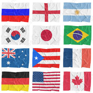 3x5 FT National Flag World Country Flags Polyester America Flags World Cup New $4.99
