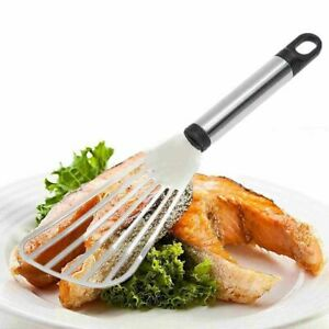 Stainless Steel Flat Fish Slice Frying Spatula Leaky Shovel Kitchen Home Tool