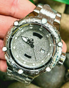 Invicta Men New 26063 50mm Subaqua Noma VI Swiss Automatic 1.81ctw Pave Diamonds