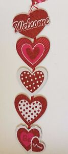 Valentine's Day ~ Be Mine Welcome Sign ~ Red Pink & White Glitter