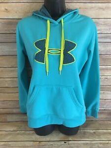 UNDER ARMOUR Storm Hoodie Sweatshirt Size Small Womens Blue Pullover Hooded top $21.62