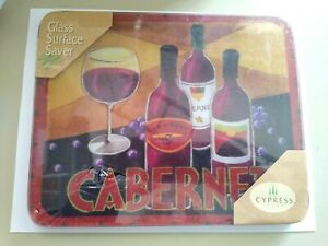 Glass Surface Saver Cutting Serving Board Cabernet 10