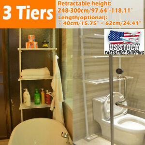 3Tier 62CM Cabinet Over Toilet Bathroom Space Saver Storage Shelf Rack Organizer