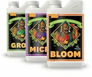 Advanced Nutrients Grow Micro Bloom pH Perfect Bundle Set Combo Base Nutrient 1L $38.99