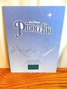 Disney Lithographs - Pinocchio  - With Frame - Exclusive Commemorative 1997 $24.00