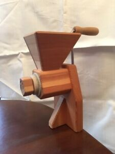 KornKraft grain hand mill, adjustable stone grinder, wooden, lightly used