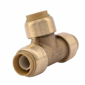 SharkBite U362LFA Tee Plumbing Pipe Connector 12 In PEX Fittings Push-to-C...  $21.99