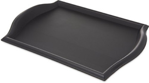 Large Cafe Carrying Table Serving Tray With Curve Handle Black Plastic Stackable