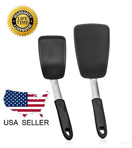 Kitchen Spatula Silicone Turner Pancake Egg Heat Resistant 440 Degrees Cooking $11.97